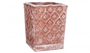 Cubo Fiorito in Terracotta