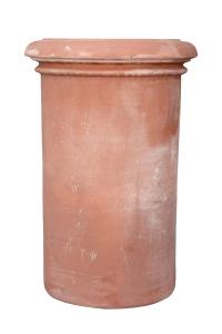 Cilindro liscio alto in Terracotta
