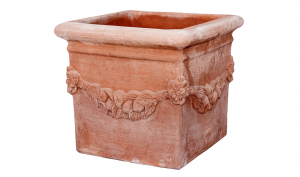 Cubo Festonato in Terracotta
