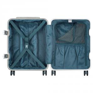 Delsey - Bastille Frame - Trolley da cabina 55 cm 4 ruote TSA rigido argento cod. 2075801