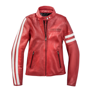 Giacca moto donna pelle Dainese72 FRECCIA72 LADY Rosso Bianco