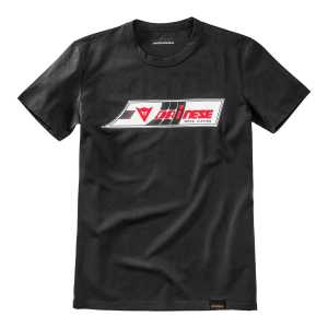 T-shirt Dainese72 SPEED-LEATHER Nero