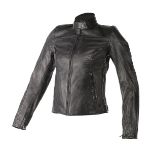 Giacca moto donna pelle Dainese Mike Nero