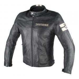 Giacca moto pelle Dainese HF1 D1 nero ghiaccio