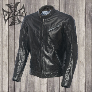 Giacca moto pelle West Coast Choppers Dominator Nero