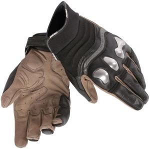 Guanti moto pelle Dainese X-Run con protezioni neri