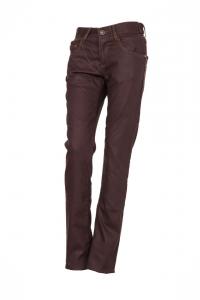 Jeans donna Esquad Silva con inserti in fibra Aramidica bordeaux olio