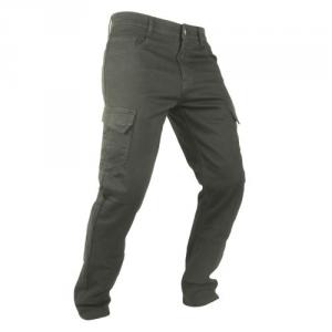 Jeans Moto Overlap Cargo Marrone Khaki con Kevlar