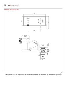 MISCELATORE LAVABO A PARETE BOCCA 151 mm SERIE SPILLO UP - F3051X5