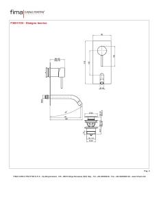 MISCELATORE LAVABO A PARETE BOCCA 151 mm SERIE SPILLO UP - F3051VX5