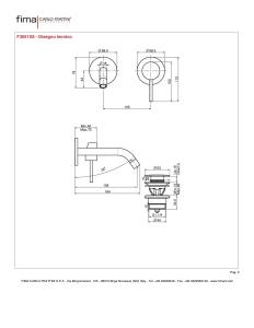 MISCELATORE LAVABO A PARETE BOCCA 156 mm SERIE SPILLO UP - F3051X8