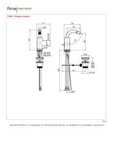 MISCELATORE BIDET SERIE SPILLO UP - F3042