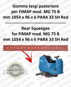 MG 75 B goma de secado trasero para fregadora FIMAP