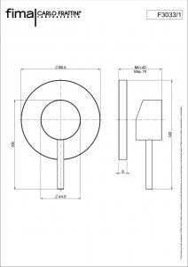 MISCELATORE INCASSO DOCCIA SERIE SPILLO UP - F3033/1