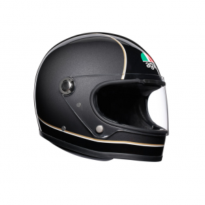 Casco integrale AGV Legends X3000 E2205 MULTI SUPER AGV in fibra Nero Grigio Giallo