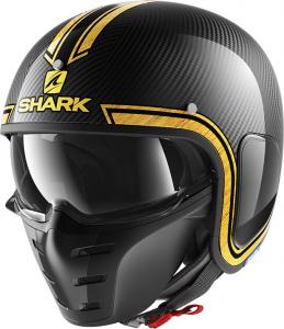 Casco jet Shark S-DRAK VINTA Carbonio Cromato Oro