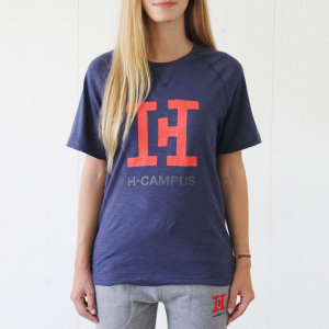T-Shirt H-CAMPUS blue melange