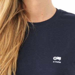 T-SHIRT blue basic - Logo