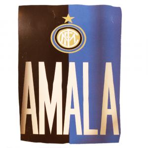 Telo arredo copritutto INTER - AMALA nero-azzurro 170x290 cm