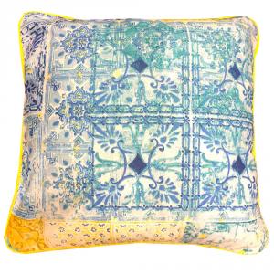 Cuscino arredo decorativo BASSETTI Granfoulard VIETRI 40x40 cm - azzurro