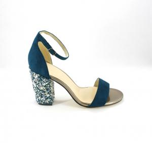 Sandalo cerimonia donna con tacco decorato Art. 09473