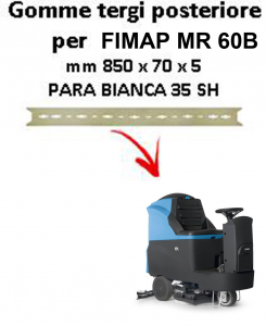 Squeegee rubber back for scrubber dryers FIMAP - MR 60B