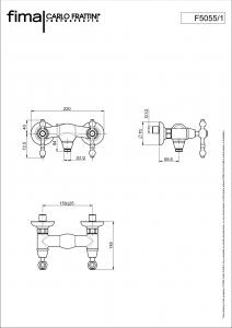 GRUPPO DOCCIA ESTERNO SENZA SET DOCCIA SERIE EPOQUE - F5055/1