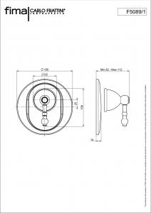 MISCELATORE INCASSO DOCCIA SERIE EPOQUE - F5089/1