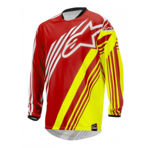 MAGLIA MOTO CROSS ALPINESTARS SUPERMATIC JERSEY RED YELLOW FLUO WHITE cod. 3761515