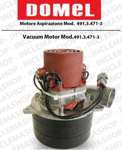 491.3.471-3 moteurs aspiration Domel pour aspirateur et autolaveuses