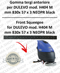 H404 M serie 6 Squeegee rubber Scrubber dryer front for DULEVO