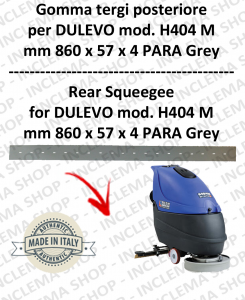 H404 M serie 6 goma de secado fregadora trasero para DULEVO