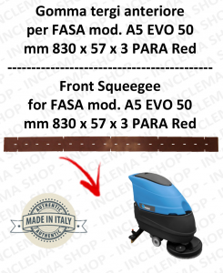 A5 EVO 50 Squeegee rubber Scrubber dryer front for FASA