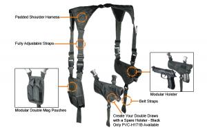 UTG Law Enforcement Horizontal Shoulder Holster  Black