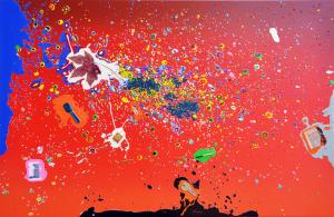 Nucara Renzo, Serigrafia polimaterica, Formato cm60x92