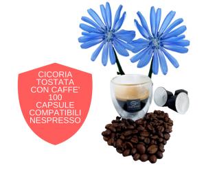 100 capsule compatibili nespresso con cicoria tostata e caffè
