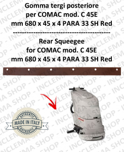 C 45E Hinten sauglippen für scheuersaugmaschinen COMAC