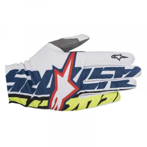 GUANTI MOTO CROSS ALPINESTARS DUNE BLU YELLOW FLUO