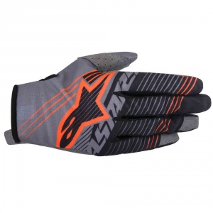 GUANTI MOTO CROSS ALPINESTARS RADAR TRACKER DARK GRAY BLACK ORANGE FLUO cod. 3561917