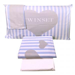 Set lenzuola matrimoniale 2 piazze TWINSET Mon Amour lavanda