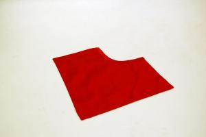 Pettorina rossa in seta
