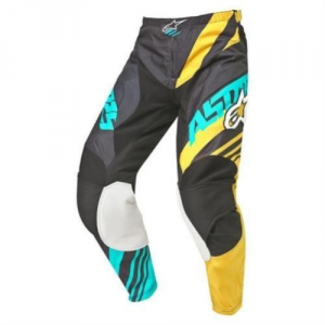 PANTALONI MOTO CROSS ALPINESTARS RACER SUPERMATIC BLACK YELLOW TEAL cod 3721515