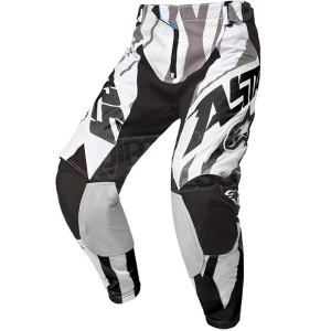 PANTALONI MOTO CROSS ALPINESTARS TECHSTAR BLACK WHITE GRAY cod 3721015