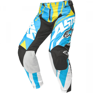PANTALONI MOTO CROSS ALPINESTARS TECHSTAR BLU YELLOW WHITE