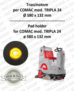 TRASCINATORE per lavapavimenti COMAC mod. TRIPLA 24