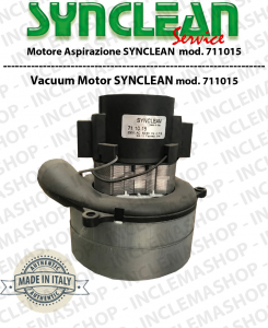 SY711015 SYNCLEAN Vacuum Motor for vacuum cleaner o scrubber dryer