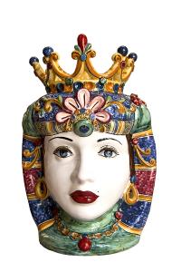 Testa di Regina con la Corona di Caltagirone