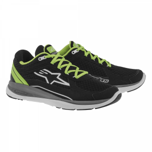 SCARPE MOTO ALPINESTARS 100 RUNNING SHOES BLACK YELLOW