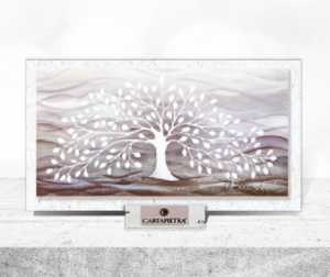Albero della Vita (bianco) 16 x 9 cm