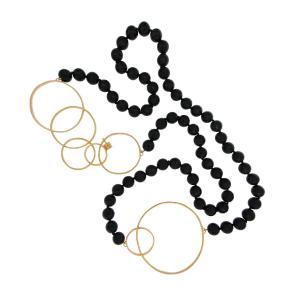 Collana con pietre e cerchi in argento 925